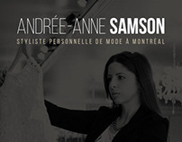 Andrée-Anne Samson - Personal Fashion Stylist Website