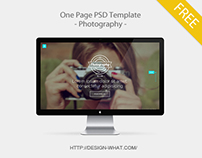 One Page PSD Template - Photograhpy -
