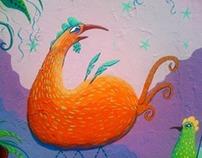 Mural: Fiesta del gallo