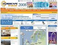 UI/UX Re-Design For Euroscape Travel Web Site
