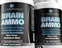 Brain Ammo Label Design