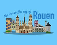 The Wonderflat City of Rouen ( France )