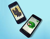 BlackBerry BBM Stickers:  Lil' Frenchie & Lil' Shellton