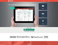 Tame Analytics Tool Landing Page