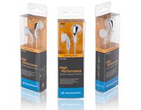 Packaging Design for Sennheiser MX Series Earphones