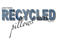Recycled Denim Shirt Pillows