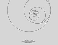 Fibonacci Sequence (Circle) Print