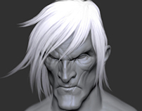 #Zbrush Face Sculpt.