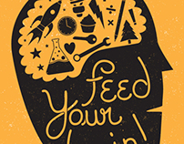 Feed Your Brain | Algona Public Library Shirt & Poster