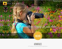 Photosharing Flat Style Website