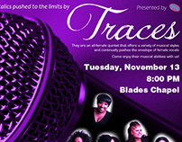 Traces Live Music Event Poster