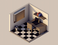Isometric Low Poly Room