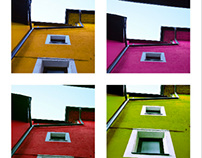 Colorful roofs & walls