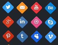 Social icons – 2D/3D