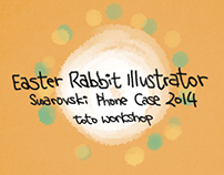 Easter Rabbit Illustrator & Phone Case Design 2014