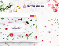 Freesia Atelier - artistic florist ecommerce website