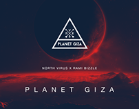 Planet Giza group logo and new EP cover by OOPDZAIN