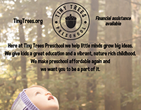 Tiny Trees Preschool Advertising