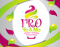 Fro Yo and Mo logo and statinoary and package design
