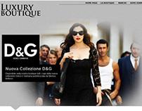 Mockup sito web boutique ecommerce