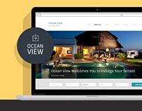 Ocean View - Hotel Website PSD Template