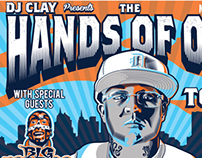 "DJ Clay, ""Hands of Odd"" tour branding"