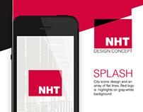 NHT app design concept