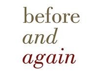 Before & Again: Exhibition Branding
