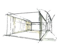 Martin Margiela Store - concept sketches