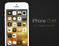 Ui for iPhone Gold - Concept