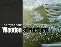 Toyen park wooden srtucture