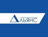 "Web & logo design for the company ""Alliance""."