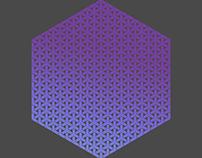 Hexagonal Print X