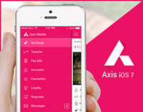 Axis mobile app iOS 7 Concept