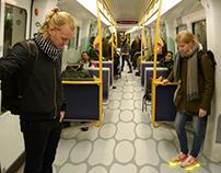 The Grid - interactive floor in the danish metro