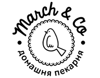 """Identity for """"March & Co"""" home bakery"""
