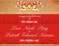 Lora and Patrick's wedding invitations