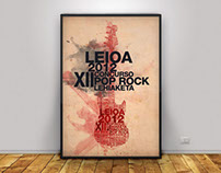 Cartel Pop Rock Leioa Poster