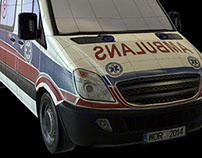 Game Art - Medical - ambulance, stretcher