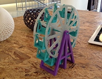 3D Printed Ferris Wheel Toy with Moving Parts