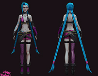 Fanart Jinx the Loose Cannon, Game rez model
