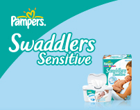 Pampers.com Swaddlers Sensitive Concept