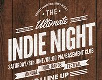 Vintage Indie Night Flyer/Poster
