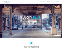Lucky Blue - One-page Theme