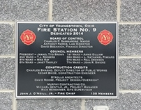 Youngstown Fire Department Dedication Plaque