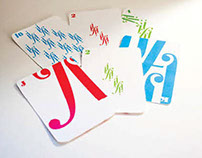 Bodoni Typographic Playing Cards