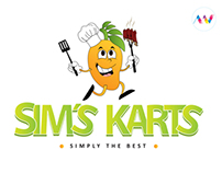 Logo for Sim´s Karts Restaurant.