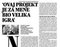 Noir Times newspaper layout design