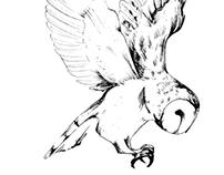 Owl, Deer and Ruby
