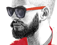 hybition eyewear lookbook illustration
